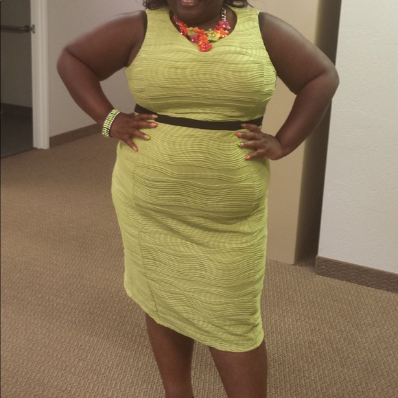 Plus Size lime Green Dress